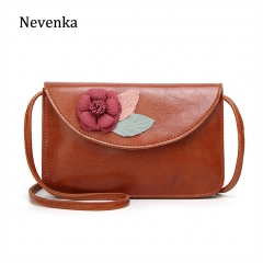 Leather Shoulder Bag Female Mini Flap Bags Floral Crossbody Bags for Women 2019 Flower Messenger Bag Small Pink Bag 2018