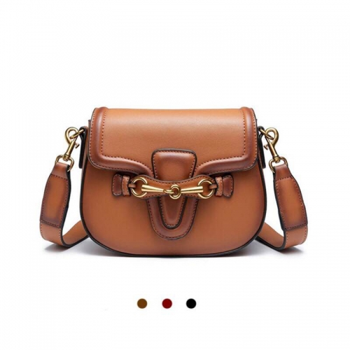 Retro Double Strap Shoulder Bag For Women Crossbody Saddle Handbag with Adjustable Strap